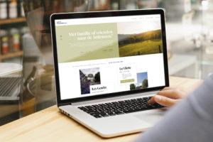 Website Groot Vakantiehuis op laptop